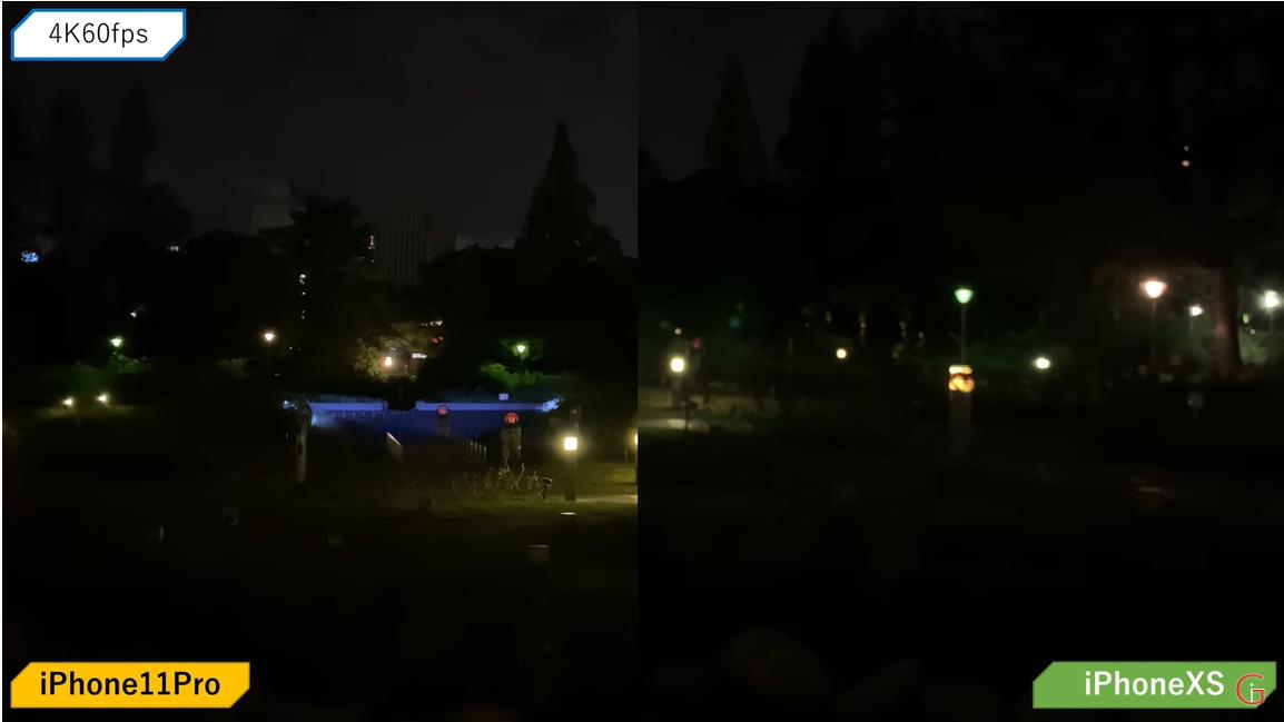 iPhone11で夜景撮影